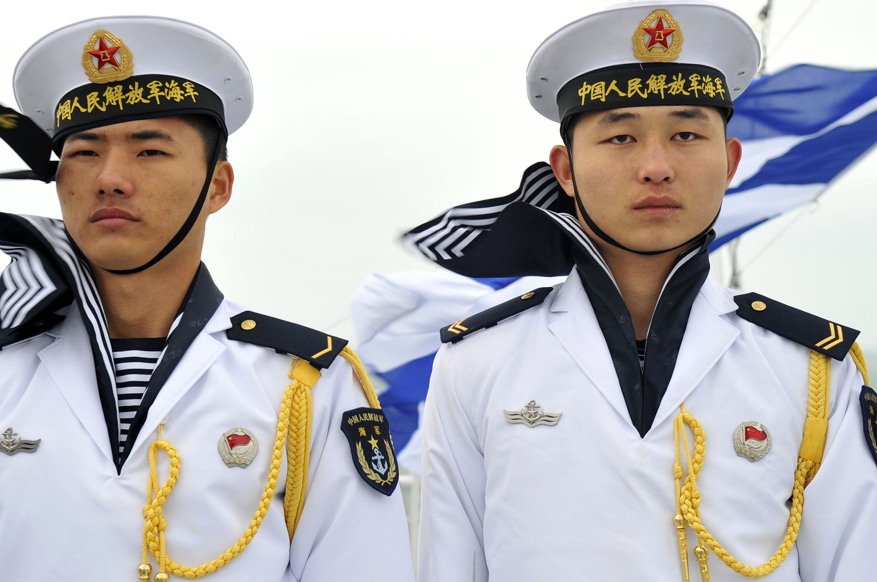 Chinese sailors qingdao